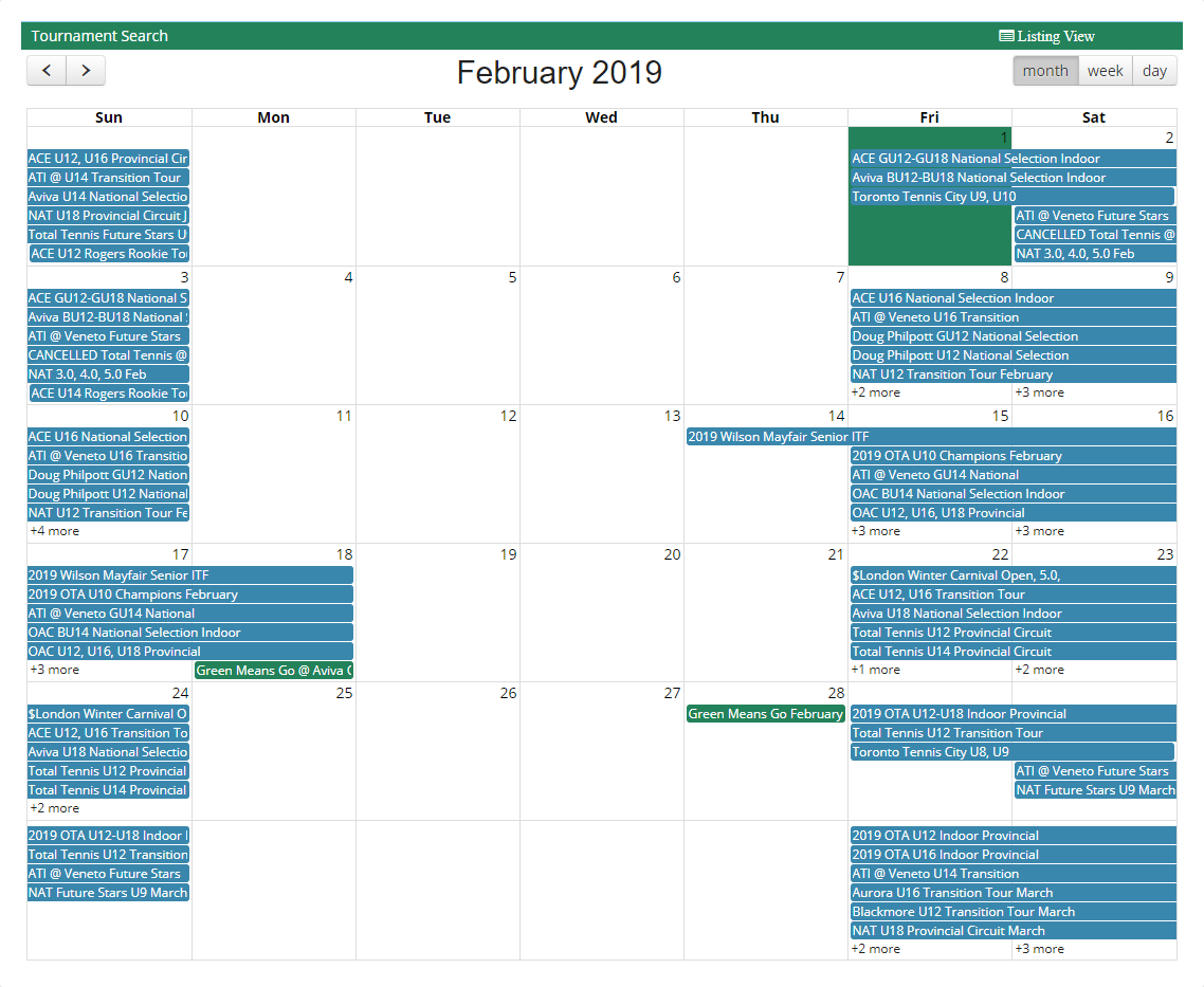 OTA - Coming Events - OT SPIN - Week of February 1