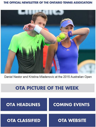 Tennisontario Newsletter - 2015-02-12